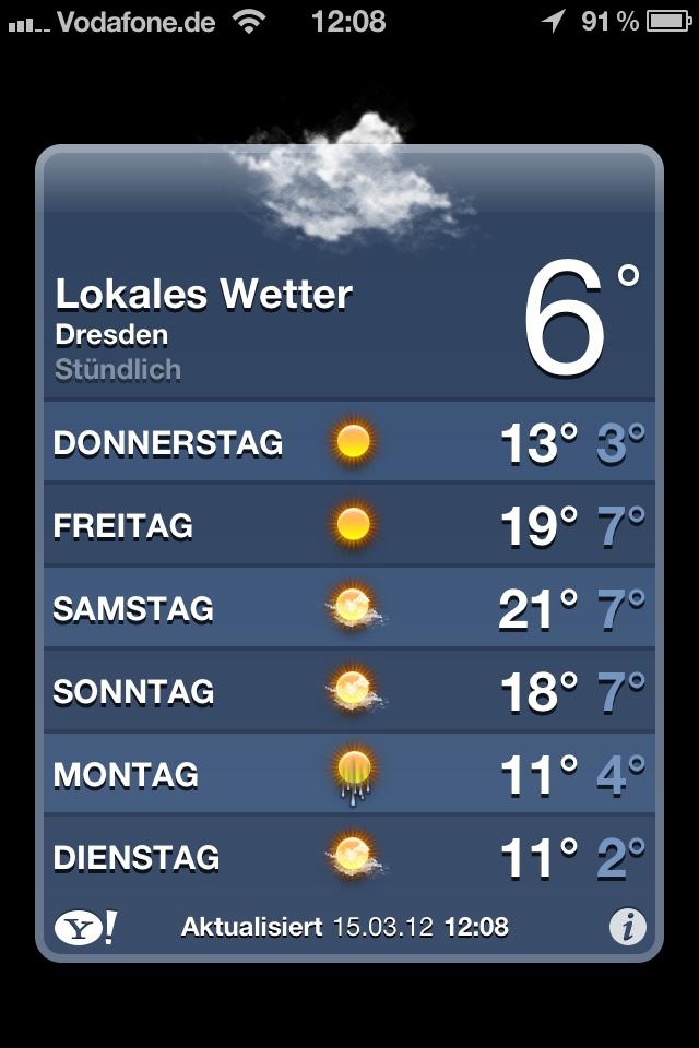 Das wird ein Wetter.