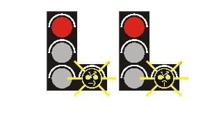 Radfahrer können jetzt bei rot über die Ampel