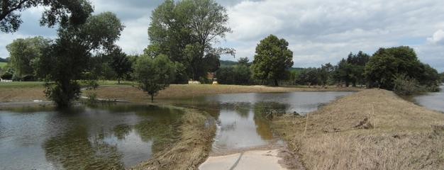 Der Elberadweg nach dem Hochwasser